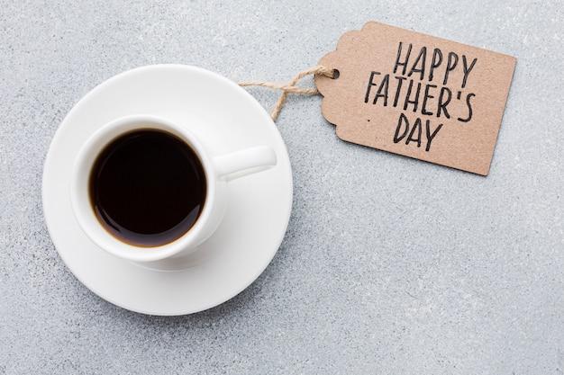 Xícara de café para o dia dos pais