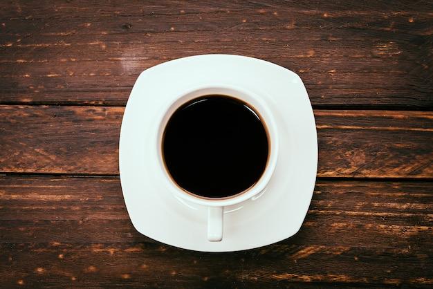 Xícara de café preto
