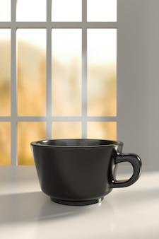 Xícara de café. renderização em 3d.