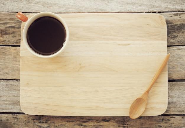 Xícara de café vintage retrô