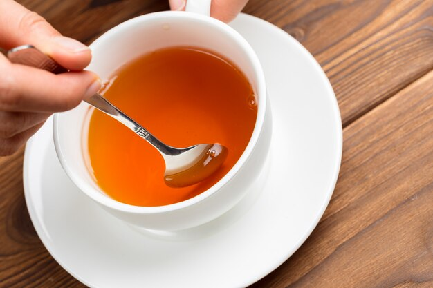 Xícara de chá da manhã