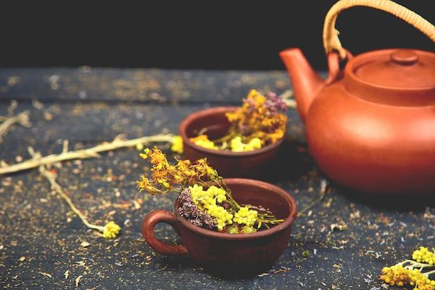 Xícara de chá de ervas