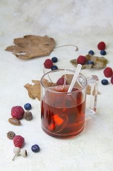 Xícara de chá quente