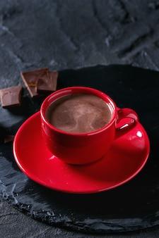 Xícara de chocolate quente