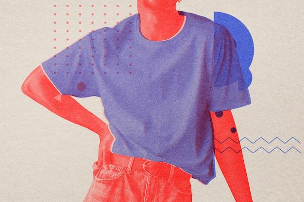 Xx com mídia remixada de efeito risógrafo
