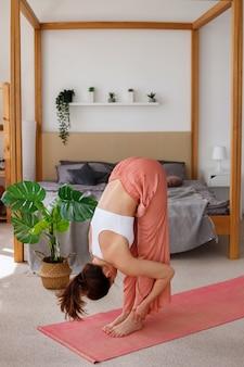 Yoga em casa.