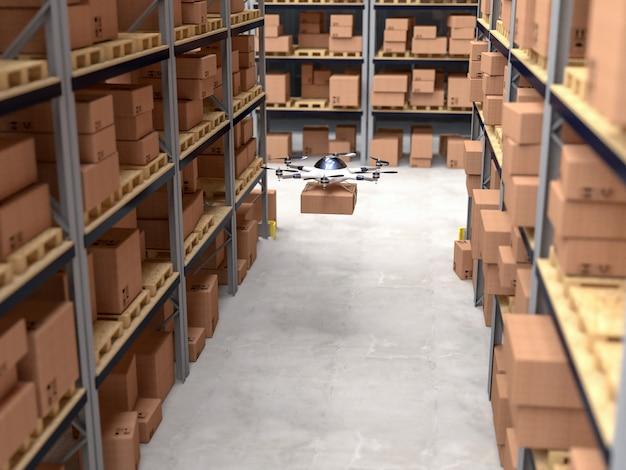 Zangão 3d no armazém