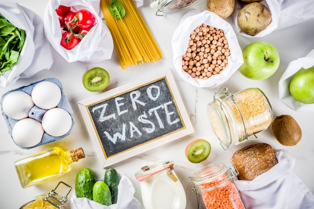 Zero conceito de compras de resíduos