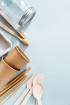 Zero conceito de desperdício com produtos sustentáveis