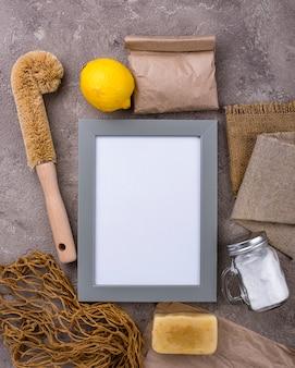 Zero desperdício de acessórios naturais para limpeza