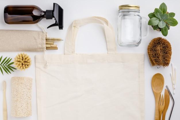 Zero desperdício, reciclagem, conceito de estilo de vida sustentável