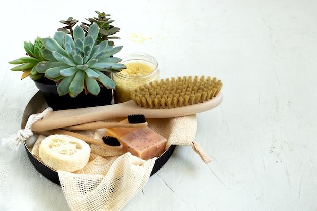 Zero resíduos orgânicos naturais ferramentas de banheiro.