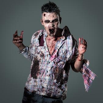 Zombie assustador traje cosplay