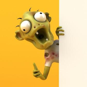 Zumbi divertido - personagem 3d