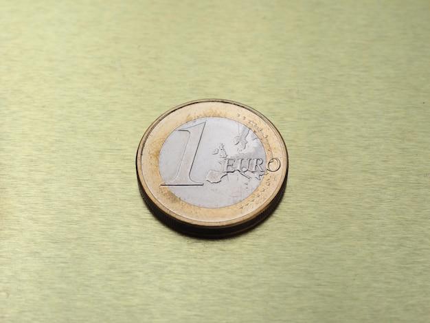 1-euro-münze, europäische union auf goldgrund
