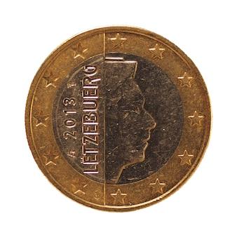 1-euro-münze, europäische union, luxemburg isoliert über weiß