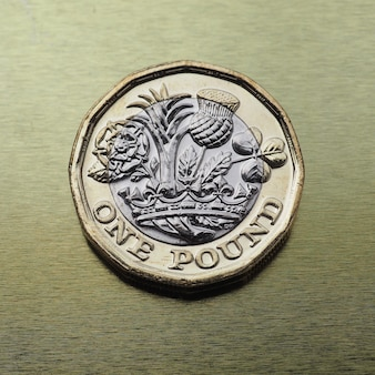 1-pfund-münze, vereinigtes königreich über gold