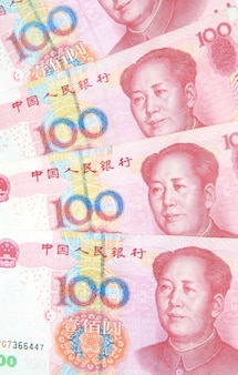 100 yuan rechnungen, china
