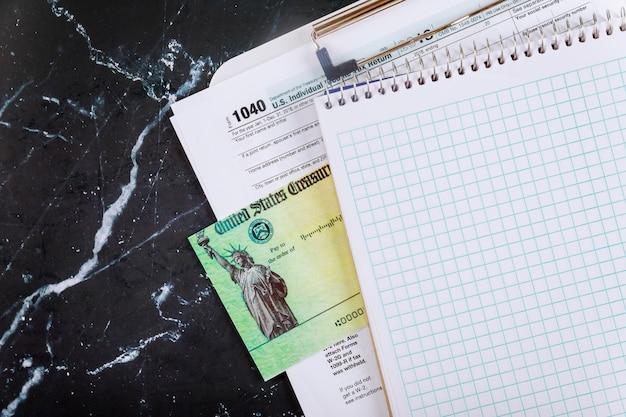 1040 us individuelle einkommensteuererklärung, stimulus economic tax return check