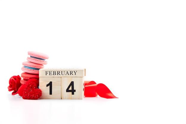 14. februar holzkalender valentinstag hintergrund