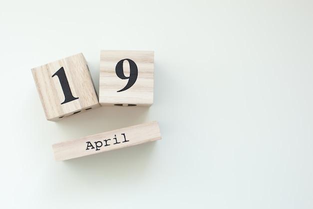 19. april ostern holzblockkalender