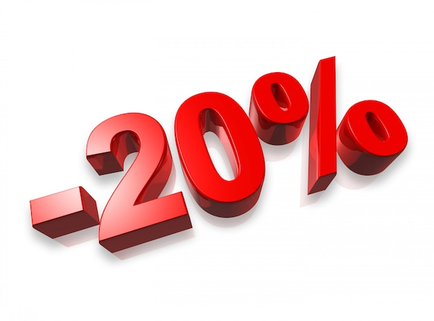 20% zwanzig prozent banner