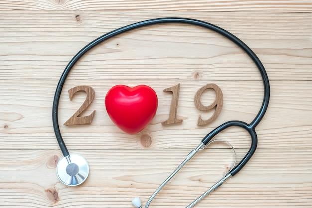 2019 frohes neues jahr für gesundheit, wellness und medizinisches konzept