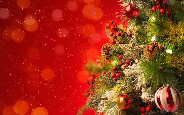 2020 frohe weihnachten und neujahr urlaub hintergrund. unscharfer bokeh-hintergrund