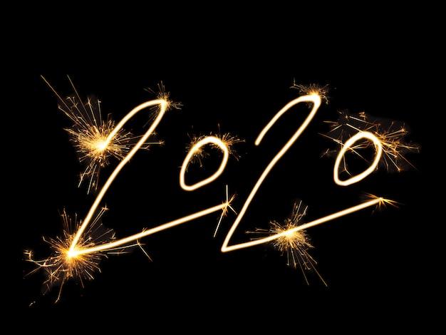 2020 goldene weihnachtsfeuercracker