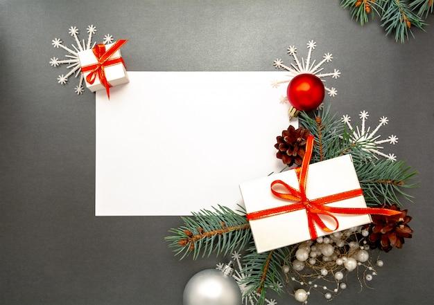 2020 guten rutsch ins neue jahr, dekorationen flatlay der frohen weihnachten