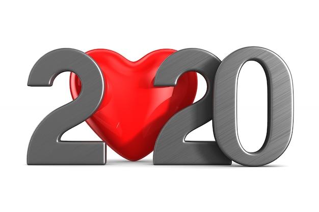 2020 neues jahr. isolierte 3d-illustration