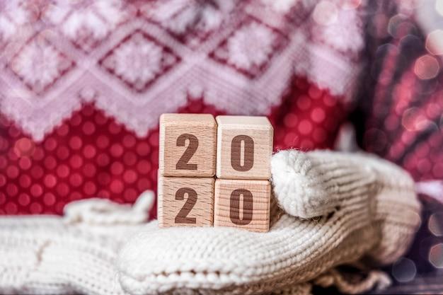 2020 neues jahr und weihnachtskonzept