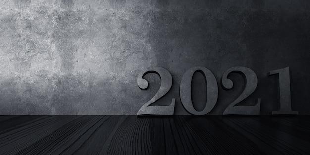 2021 frohes neues jahr banner dunkles licht