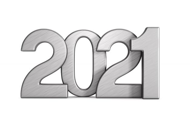 2021 neues jahr. isolierte 3d-illustration