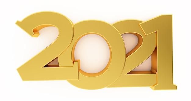 2021 neujahr isoliert auf weiß