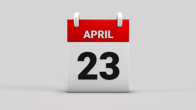 23. april nationale souveränität und kindertageskalender 3d rendern