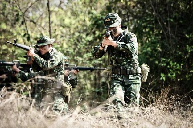 24. märz 2018, amphoe lom sak, thailand; thailändisches militär nahm an einem speziellen kampf o teil