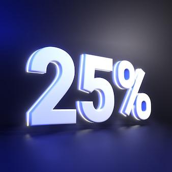 25 prozent zahlenwiedergabe