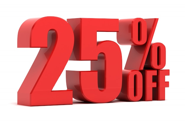 25% rabatt auf die förderung