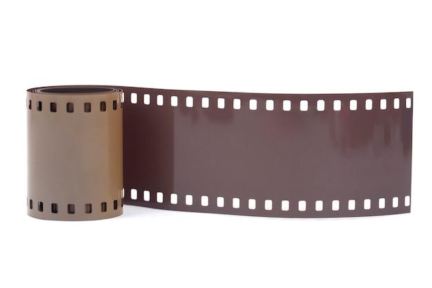 35mm filmstreifen auf weißem hintergrund