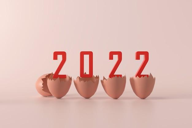 3d 2022 hintergrund eier konzept