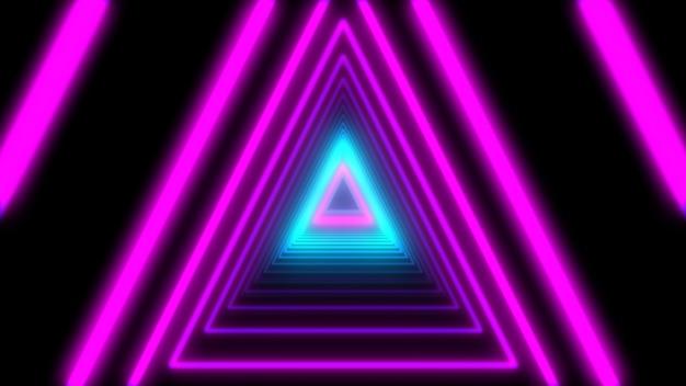 3d abstract lights neon dreiecke. loop-animation.
