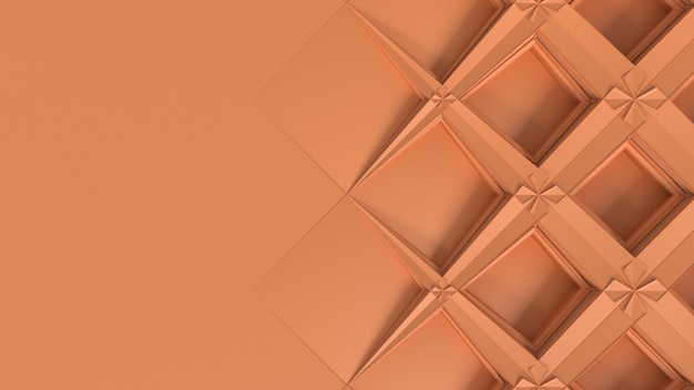 3d abstrakte geometrische kaleidoskop-transformation. fraktale verzerrung der oberfläche. 3d-render-darstellung
