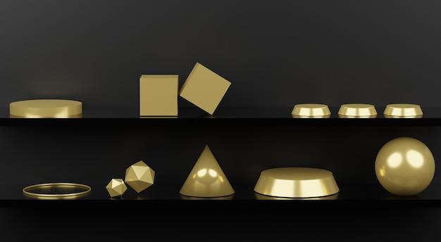 3d abstrakte minimale geometrische formen