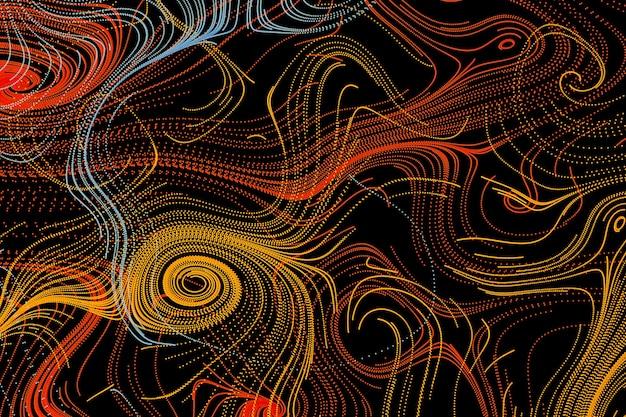 3d abstrakter hintergrund ornamental fließender wirbel formt tapete spirallinie kunst ornament