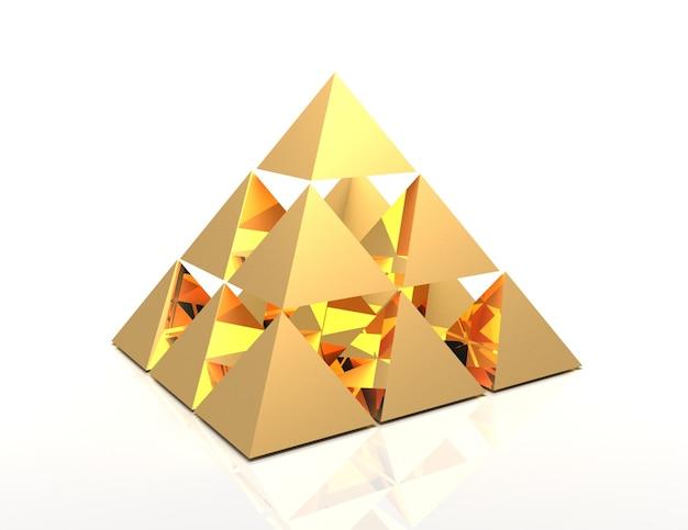 3d abstraktes pyramidenkonzept