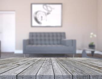 3D alten Holztisch