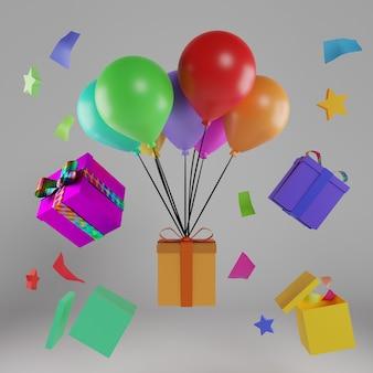 3d ballon- und geschenkdesign
