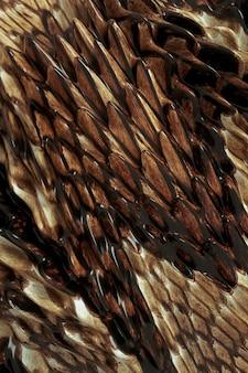 3d beige brauner drachen reptil fisch schlangenhaut muster hintergrund glänzende haut zusammenfassung