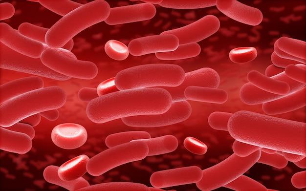 3d-blut- und viruszellen